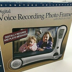 Journeys Edge Digital Voice Recording Photo Frame With Built In Clock