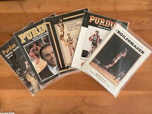 Purdue University Basketball Media Guides & 1987 Iowa Program