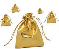 5 goldene Schmuckbeutel Schmuckverpackung Geschenkverpackung Schmucksäckchen