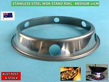 Stainless Steel Wok Stand Ring Rack BBQ Stand 21CM MEDIUM (A34-1) Brand NEW
