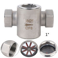 """1"""" NPT Female Thread Sight 304SS Sight Water Flow Indicator W/ Impeller 2.5 MPa"""