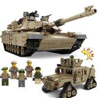 2in1 Militär Panzer Modell Bausteine mit WW2 Soldaten Figuren Spielzeug 1463pcs