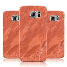 DYEFOR FAUX MARBLE RED ORANGE CASE COVER FOR SAMSUNG GALAXY MOBILE PHONES