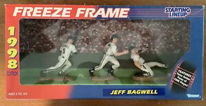 Jeff Bagwell 1998 SLU Freeze Frame Starting Lineup Astros 3 Figures !!!