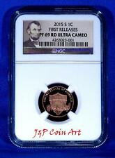 2015 S Lincoln Penny First Releases NGC PF69 RD Ultra Cameo Portrait Label
