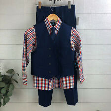 Boys Young Kings By Steve Harvey $65 4pc Double-Breasted Vest Suit Size 8