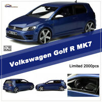 OTTO 1:18 Scale VW Volkswagen Golf R MK7 Blue Resin Car Model Limited Collection