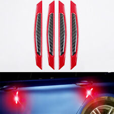 4x Red Reflective Carbon Fiber Car Door Edge Protector anti-collision Sticker