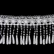 3Yds Flower White Venise Lace Fringe Sewing Costume Trims Applique DIY Craft