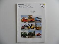 Brochure camion MERCEDES-BENZ Véhicules de sauvetage et de dépannage de 07-1982