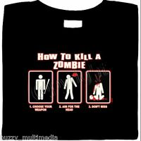How To Kill A Zombie Shirt, Get Weapon - Aim - Don't Miss, funny, dead walking
