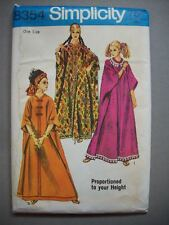 1960's Caftan women pattern 8354 size by height Tall Average Short