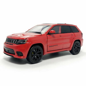 1:32 Jeep Grand Cherokee Trackhawk Model Car Diecast Toy Sound Light Cars Red