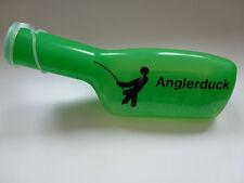 Angel Zubehör Farbige-Urinflasche in Grün mit Anglerduck Schriftzug in schwarz!