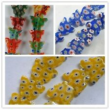 50pcs Millefiori Glass Butterfly Spacers 3colors-1 12x10mm P396-P398