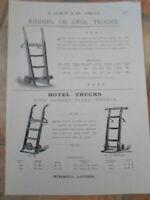 BARREL-CASK TRUCKS+HOTEL TRUCKS Image Copy Print L Lumley & Co Minories London