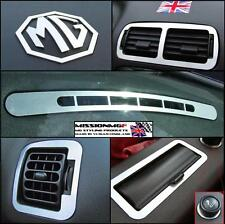MGF MG TF MGTF LASER CUT BRUSHED ALUMINIUM INTERIOR STYLING PACK - 10 PIECE KIT
