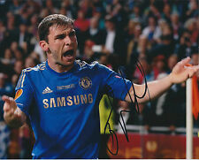 Branislav IVANOVIC Signed Autograph Photo AFTAL COA EUROPA Goal WIN Celebration