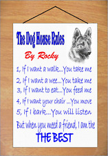 German Shepherd Dog Novelty Sign