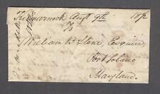 """""""Kilmarnock Augst 9th"""" 1822 Virginia Lancaster County 1-Pg John Meredith letter"""