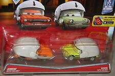 "DISNEY PIXAR CARS ""2-PACK GREM WITH HELMET & ACER WITH HELMET"" NEW IN PACKAGE"