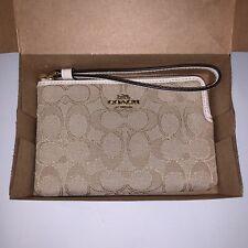 Coach F54627 Outline Signature Corner Zip Wristlet Wallet Clutch Case Pouch NWT