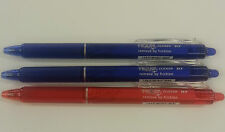 Pilot Frixon Clicker Gel Ink Rollerball0.7mm (RUB OUT PEN DEAL) 2XBLUE 1XRED PEN