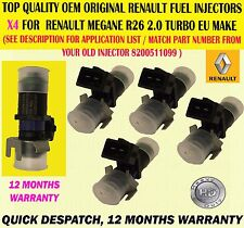 GENUINE FOR RENAULT MEGANE 225 SPORT, R26 & R26R X4 FUEL INJECTORS 8200511099