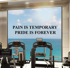 Motivational Gym Wall Decal Sport Fitness Quote Vinyl Sticker Decor Mural 58fit