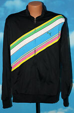 PUMA Golf Stripe Track Jacket Black with Colors Large Full Zip New with tags