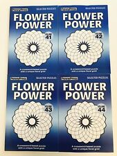 Lot of 4 Flower Power Penny Press Dell Variety Selected Puzzles $31.80 retail