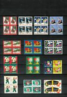 U.S. CHRISTMAS SEALS 13 Diff. Blocks of 4 MNH F/VF 1938//1958 All Scott Listed