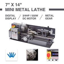 550W Mini Metallo Rotante Tornio Lathe Macchina Lavorazione Legno Metal Banco