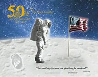 Apollo 11 50th Anniversary 2019 Engraved Print: Giant Leap IN HAND READY TO SHIP