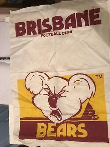 RARE AFL Original 90s Brisbane Bears Large Tea Towel