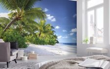 Wall Mural Photo Wallpaper 368x254cm feature wall Reunion beach sea and palms