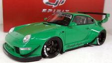 Véhicules miniatures verts en résine pour Porsche