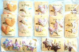 Hair Clips LOT of 14 Beautiful Big Hand Made Unique Brand New Sealed