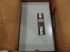 GE TGN3323R 100a 250v 3p 3r non-fusible Outdoor Disconnect NEW open box
