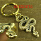 Solid Brass Viper snake Punk Biker as Key chain or Sweater chain pendant H545
