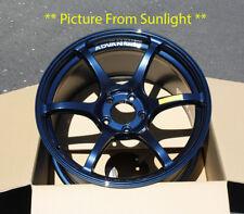 "Advan Racing RGIII *Indigo Blue Wheel Rim 18"" 18x9.5 +45 5x114 Super GTR 19.5lbs"
