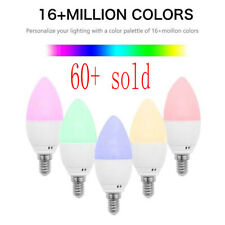 E14 Smart WiFiCandleLight Bulb RGBW LED Works with Alexa Google Assistant Lamp