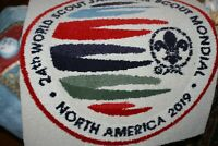 2019 WORLD SCOUT JAMBOREE WSJ IST 26 x 28 INCH VERY LARGE YOUTH PATCH RUG