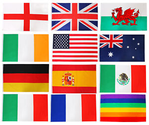 HUGE COUNTRY FLAG 5FT X 3FT NATIONAL FLAGS SPORTS RUGBY FOOTBALL EVENT PARTY