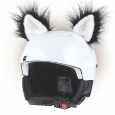 Stick-on ears for skiing helmet - Black Cat - ski bike Decoration Cover kid ear