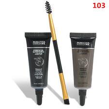 2X Makeup Waterproof Brown Tint Eyebrow Henna With Mascara Eyebrows Paint Brush