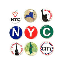 NY Buttons New York city Statue Liberty NYC Big Apple Jolee's 3D Sticker
