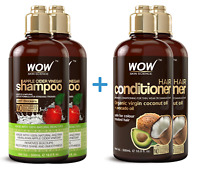 WOW Apple Cider Vinegar Shampoo + Coco Avocado Conditioner - Hair Loss - 2 Pack