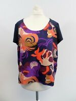 See By Chloe Abstract Flower Silk Top Size 42 (UK 10) Box44 12 K