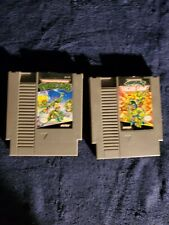 TMNT I & II  ~ ORIGINAL NINTENDO (NES) VIDEO GAME ! CLEANED ~ TESTED ~ AUTHENTIC